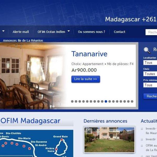 L'agence OFIM sis à Madagascar, véritable leader du marché immobilierlocal.